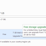 How To Get Free Upgrade from 7GB to 25 GB For Free In Microsoft Skydrive