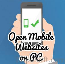 Mobile friendly site on PC