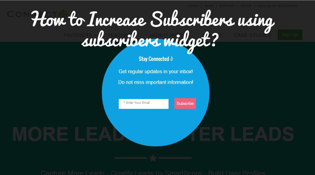 How to Increase Subscribers using subscribers widget?
