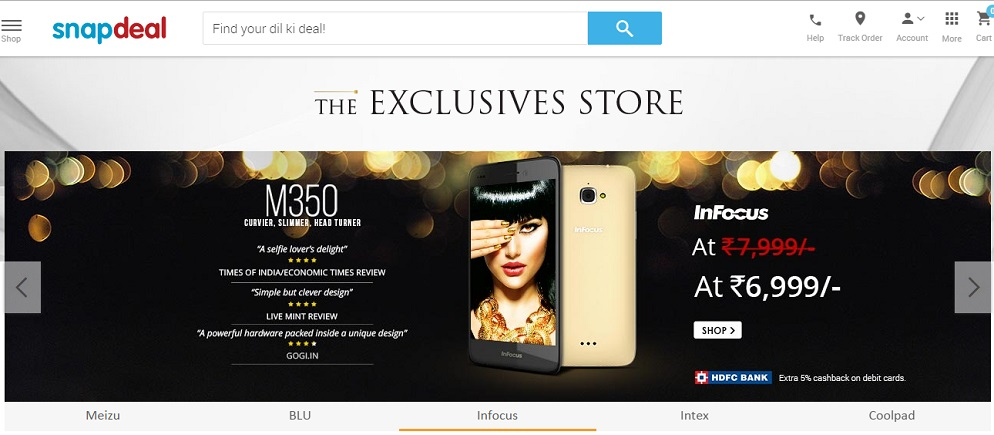 Snapdeal New UI 2