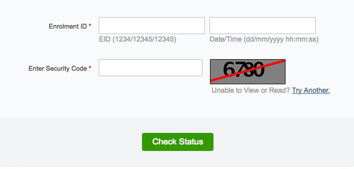 Check Aadhaar card status online